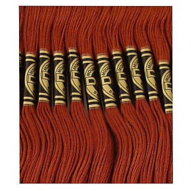 DMC Six Strand Embroidery Cotton, Very Dark Mahogany