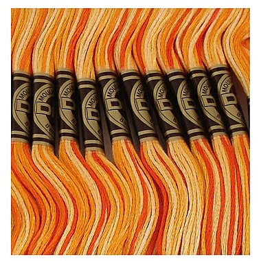 DMC Six Strand Embroidery Cotton, Variegated Burnt Orange