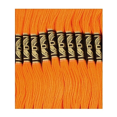 DMC Six Strand Embroidery Cotton, Bright Orange