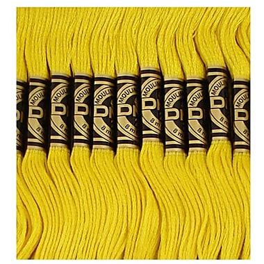 DMC Six Strand Embroidery Cotton, Dark Lemon