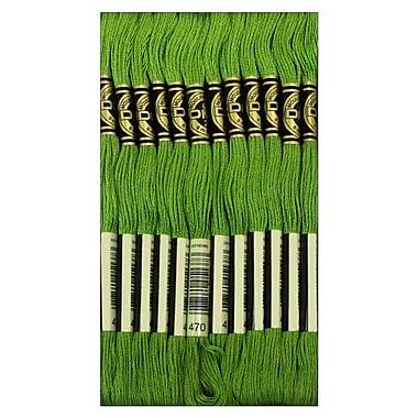 DMC Six Strand Embroidery Cotton, Light Avocado Green