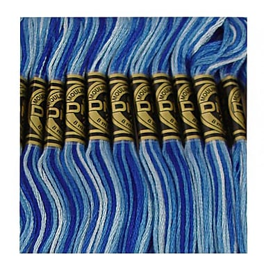 DMC Six Strand Embroidery Cotton, Variegated Delft Blue