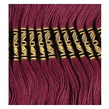 DMC Six Strand Embroidery Cotton, Very Dark Grape, Darker than 3834