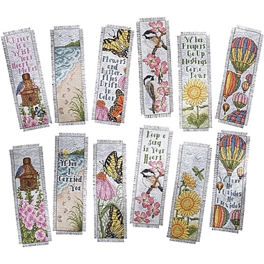 Inspired By Nature Bookmarks Counted Cross Stitch Kit, 2-1/2