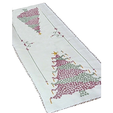 Stamped Lace Edge Table Runner 15