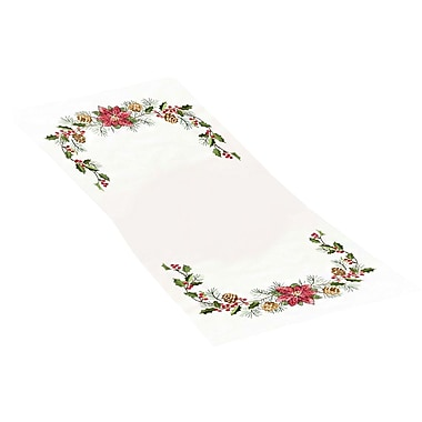Christmas Greens Table Runner Stamped Cross Stitch Kit, 15