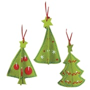 "3-D Ornaments Felt Applique Kit, 3-1/2"" Set Of 3"