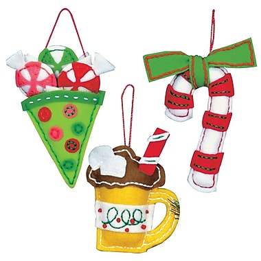Sweet Treats Ornaments Felt Applique Kit, 3
