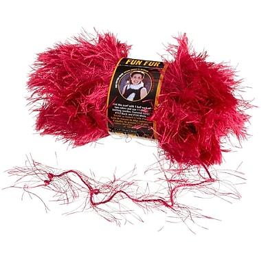 Fun Fur Yarn, Raspberry