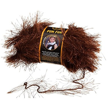 Fun Fur Yarn, Chocolate