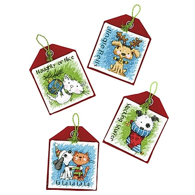 Pet Ornaments Counted Cross Stitch Kit, 4-1/2