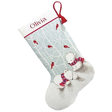 Snow Bears Stocking Counted Cross Stitch Kit, 16