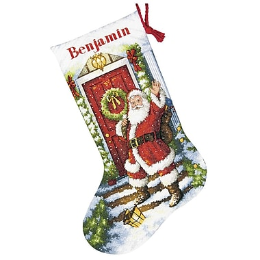 Gold Collection Welcome Santa Stocking Counted Cross Stitch -16