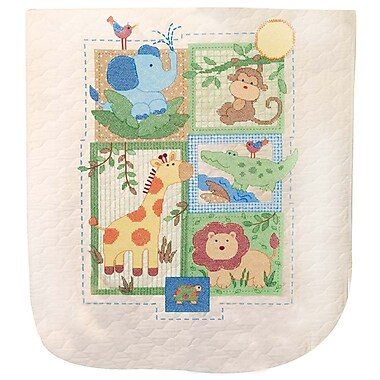 Baby Hugs Savannah Quilt Stamped Cross Stitch Kit, 34