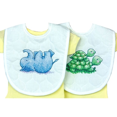 Little Pond Bib Pair Stamped Cross Stitch Kit, 9