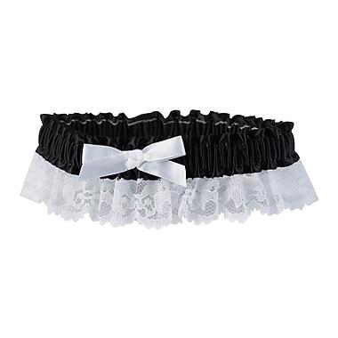 HBH™ Petite Garter With White Satin Bows, Black