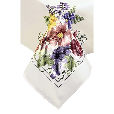 Flowers & Berries Tablecloth Stamped Cross Stitch, 50