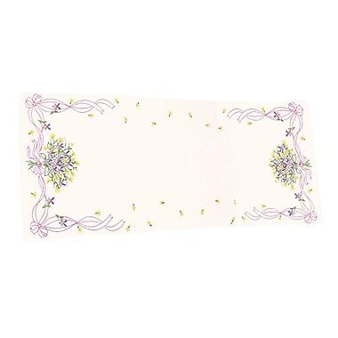Violets Nosegay Dresser Scarf Stamped Embroidery, 14
