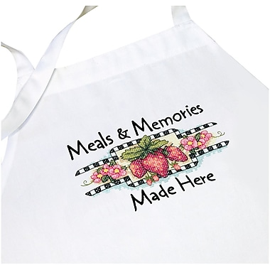 Meals & Memories Apron Stamped Cross Stitch