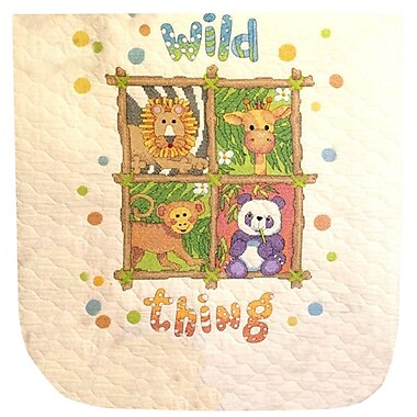 Baby Hugs Wild Thing Quilt Stamped Cross Stitch Kit, 34