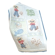 """Stamped White Quilt Crib Top 40""""X60""""-Little Boys"""