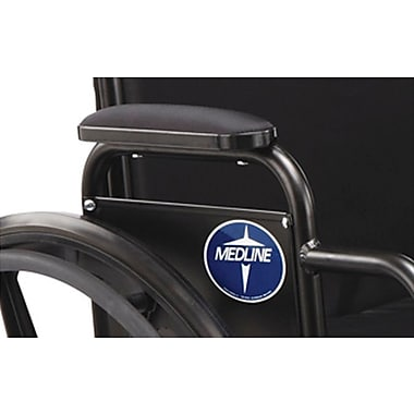 Medline Desk Length Armrest Pad, Black, Non Bariatric, Recliner K3 and K4 Wheelchair Compatible