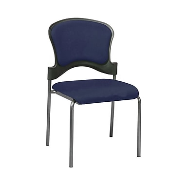 Office Star Proline II® Fabric Visitors Chair with Upholstered Contour Back, Navy