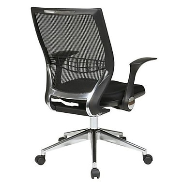Office Star Proline II Fabric Managers Office Chair, Adjustable Arms, Black (80885AL-3)