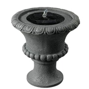 Kenroy Home Solar Urn Solar Table Top Fountain, Concrete Finish