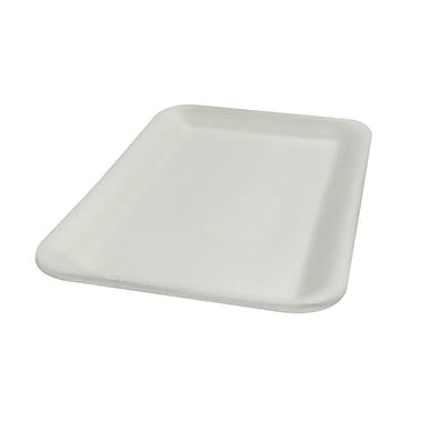 Genpak® 2WH Supermarket Tray, White, 1