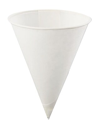 Konie KBR Rolled Rim Cone Cup, White, 4 oz., 5000/Case 150243