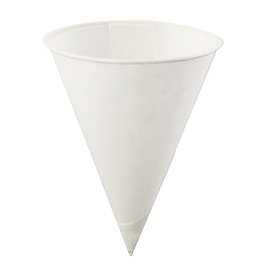 Konie KBR Rolled Rim Cone Cup, White, 4 oz., 5000/Case