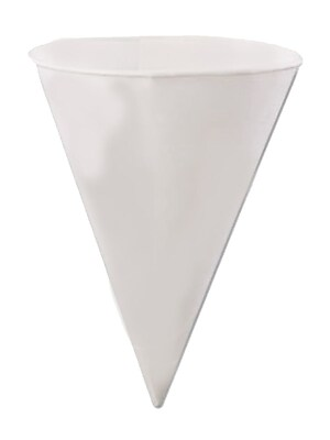 Konie KBR Rolled Rim Cone Cup, White, 6 oz., 5000/Case 150244