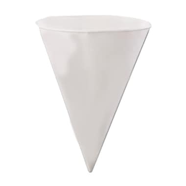 Konie KBR Rolled Rim Cone Cup, White, 6 oz., 5000/Case