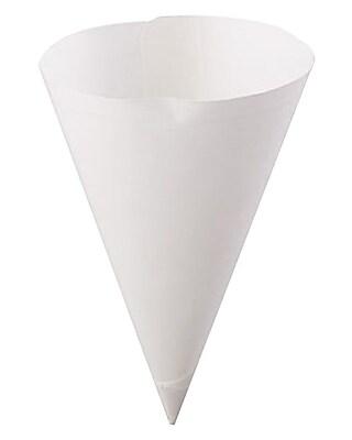 Konie 7.0KSE Straight Edge Cone Cup, White, 7 oz., 5000/Case 150245
