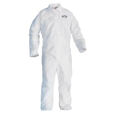 KleenGuard® A20 Breathable Particle Protective Coverall W/Hood and Boots, White, Large
