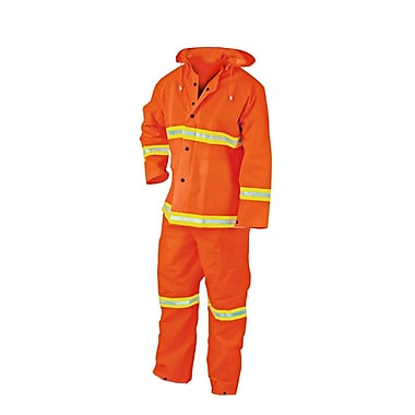 River City® 2013R 3-Piece Rainsuit, Fluorescent Orange, Large