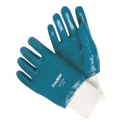 Memphis Glove Predatouch 9790 Nitrile Coated Gloves, Large, Teal