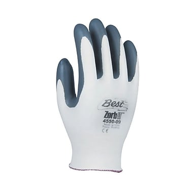 Showa Best Glove® Zorb-IT® 4550 Nitrile Gloves, Size Group 6