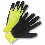 West Chester HVG700SLC Latex Green Hi-Vis Gloves, Large