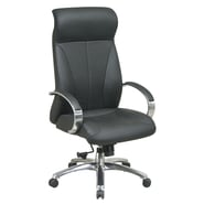 Office Star Pro-Line II™ Leather High Back Executive Chair, Black