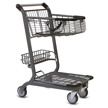 EXpress3500 Convenience Shopping Cart w/ Child Seat, Metallic Gray