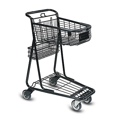 EXpress3650 Convenience Shopping Cart w/ Child Seat, Black