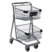 EXpress4545 Convenience Shopping Cart, Light Gray