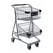 EXpress4546 Convenience Shopping Cart, Light Gray