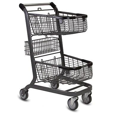 EXpress6000 Convenience Shopping Cart, Metallic Gray
