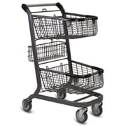 EXpress6000 Convenience Shopping Cart, Metallic Gray
