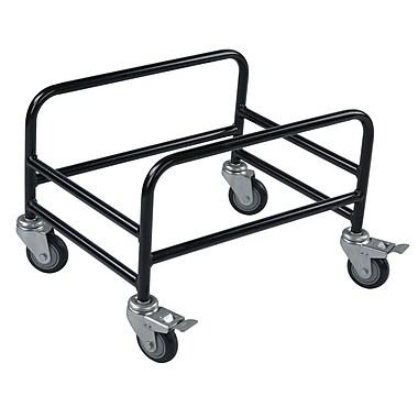 Rolling Basket Stand, For Hand Baskets, 28 Liter, Black