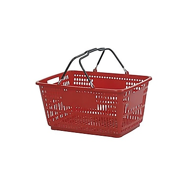 Wire Handle Hand Basket, 30 Liter, Red, 20 Baskets/Pack