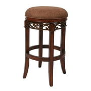 "Pastel Carmel 30"" Faux Leather Backless Barstool, Dakota Toffee"